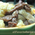 Beef with Cauliflower and Mushroom